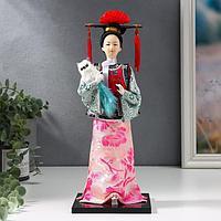 Кукла коллекционная 'Китаянка в национальном платье с собакой' 32х12,5х12,5 см