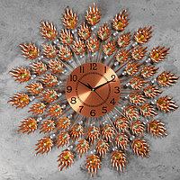 Часы настенные, серия Ажур, 'Витторе' d70 см, d22 см, 1 АА, плавный ход