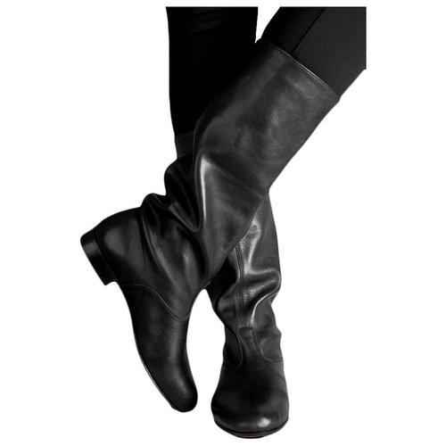 Сапоги народные мужские, кожа, цвет чёрный, размер 41