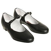 Туфли народные женские, длина по стельке 20 см, цвет чёрный