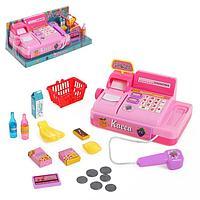 Игровой набор касса 'Магазинчик', с аксессуарами, световые и звуковые эффекты, МИКС