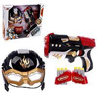 Набор игровой 'Супергерой', маска, пистолет с пулями, мишень, цвета МИКС