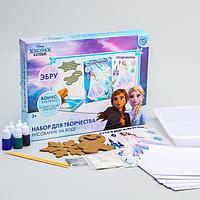 Набор для творчества рисуем в технике эбру 'На воде', Холодное сердце Эльза и Анна