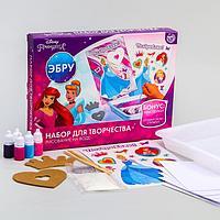Набор для творчества рисуем в технике эбру 'На воде', Принцессы Золушка, Ариель, Рапунцель