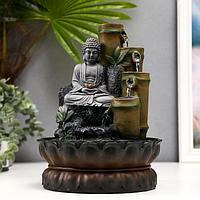 Фонтан настольный от сети 'Серый будда и фонтан из бамбука' 28х20,5х20,5 см