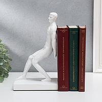 Держатель для книг 'Атлет' белый 25х15х10 см