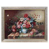 H263-30х40 Картина из гобелена 'Букет пионов' (45х35)