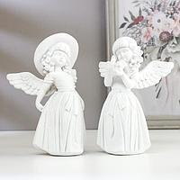 Сувенир полистоун 'Белоснежный ангел-девочка в нарядном платье' МИКС 17х12,5х9,5 см