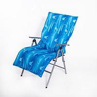 Подушка-матрас водоотталкивающ., журавли, 140х60х3,5 см