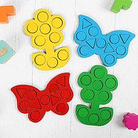 Мозаика 'Бабочки и цветочки', 15 x 10 см, набор 4 шт.