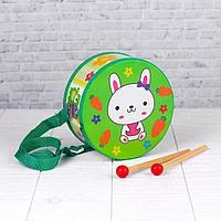 Музыкальная игрушка 'Барабан', с рисунком, цвета микс, бумажная мембрана