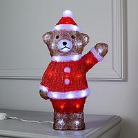 Фигура акрил. 'Медвежонок санта' 40х10х10 см, 40 LED, 220V, БЕЛЫЙ