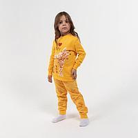Пижама для девочки НАЧЁС, цвет жёлтый, рост 116-122 см