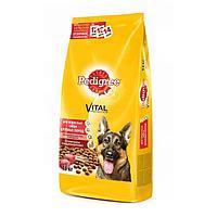 Сухой корм Pedigree для собак крупных пород, говядина, 13 кг