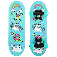 Скейтборд детский 'Единорог' 44х14 см, колёса PVC d50 мм