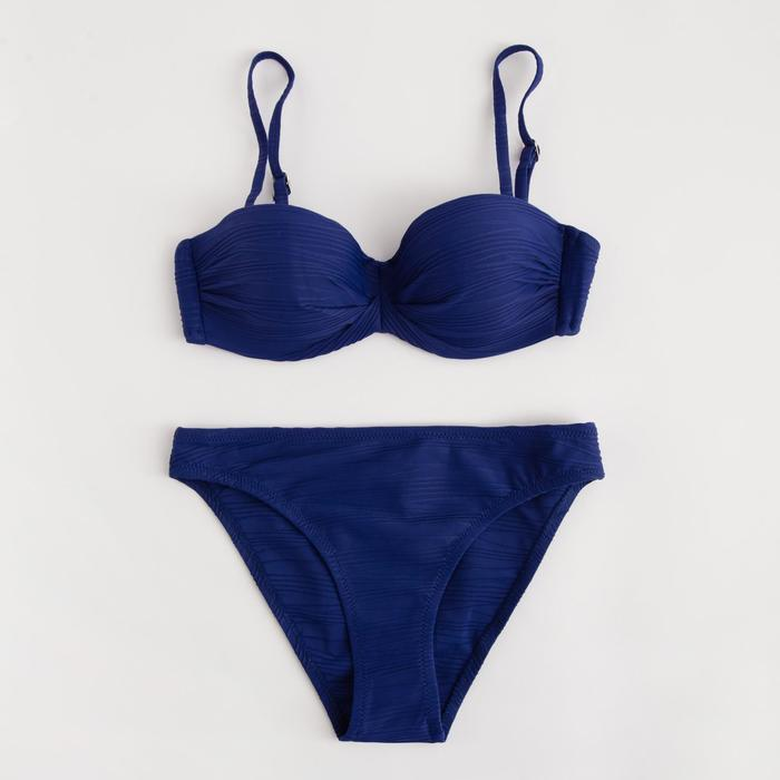 Купальник женский раздельный, цвет синий, р-р 42 (36) - фото 1