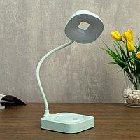 Лампа настольная сенсорная 85300/1 12хLED 3Вт 3 режима диммер USB AKB лазурный 11х12,8х35 см 47348