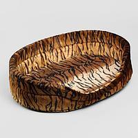 Лежак 'Флок 3', 14 x 52 x 38 см, коричневый