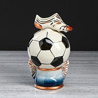 Копилка 'Футбольный мяч', глянец, керамика, 22 см, микс