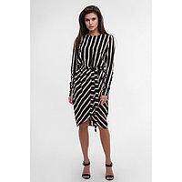 Платье женское MIST миди на запахе, р-р 48-50, чёрный