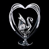 Сувенир с кристаллами Swarovski 'Лебедь' 10,2х7,8 см