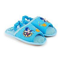 Тапочки детские, цвет голубой, размер 26