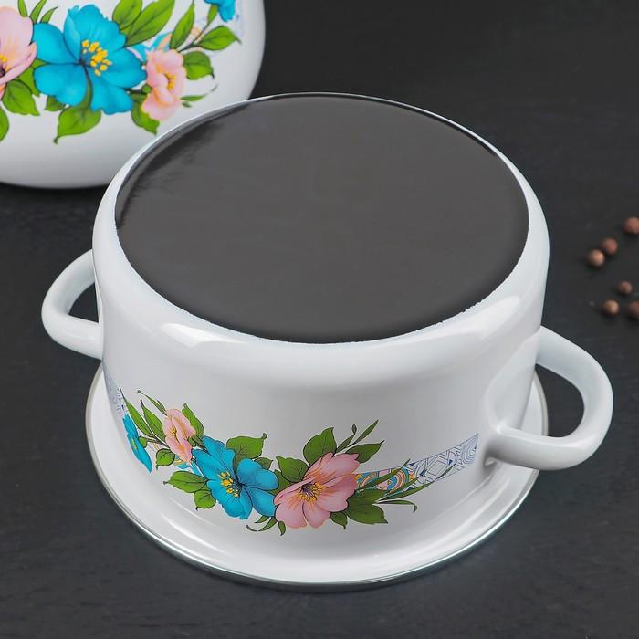 Набор посуды 'Виола', 4 предмета 3 кастрюли 2 л, 3 л, 4 л с крышками, чайник 3,5 л - фото 3