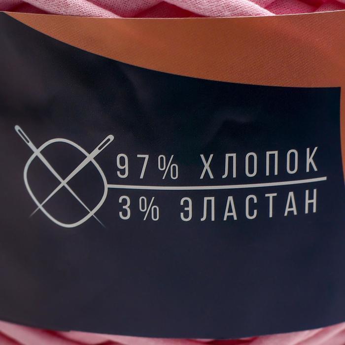 Трикотажная лента 'Лентино' лицевая 100м/320±15гр, 7-8 мм (св. розовый) - фото 8
