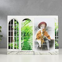 Фоторамка стекло 10х15 см 'Арка в сад' 17х22 см