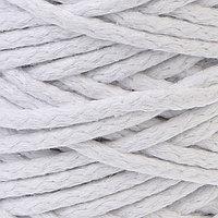 Шнур для вязания 100 хлопок, ширина 5 мм 100м/450гр (белый)