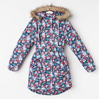 Пальто для девочки, цвет серый, рост 134-140 см