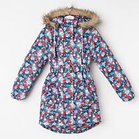 Пальто для девочки, цвет серый, рост 140-146 см