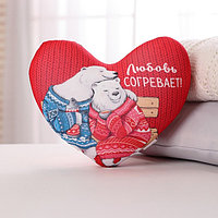 Подушка-антистресс сердце 'Любовь согревает', мишки 30х25 см