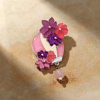 Брошь акрил 'Воздушный шар', цвет розовый