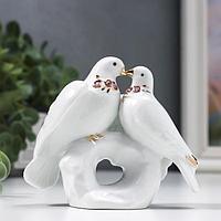 Сувенир 'Два голубя на камушке' со стразами