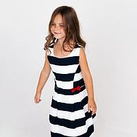Платье для девочки, цвет синий, рост 98 см