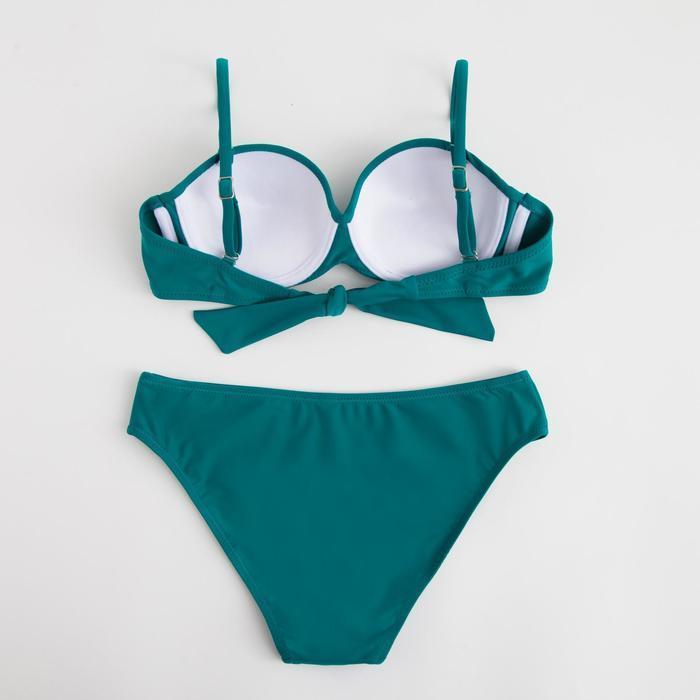 Купальник женский раздельный, цвет зелёный, р-р 42 (36) - фото 3