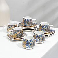 Сервиз кофейный 'Галерея', 12 предметов 6 чашек 80 мл, 6 блюдец d10,5 см