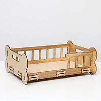 Кроватка-лежанка (для маленьких пород собак и кошек) 'Косточка', 51х39х19 см