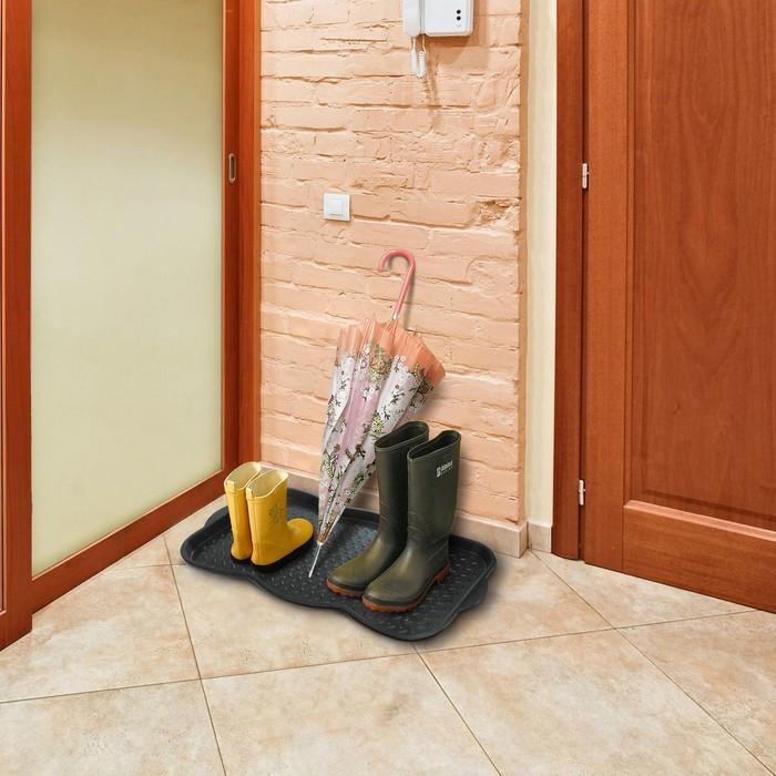 Лоток для обуви, 75x38,5x3 см, цвет чёрный - фото 2