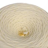 Трикотажная лента 'Лентино' лицевая 100м/320±15гр, 7-8 мм (сливочный)