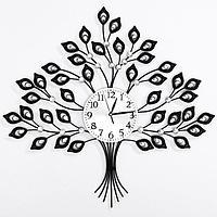 Часы настенные, серия Ажур, 'Древо жизни', плавный ход, 58 х 60 см, d циферлата16 см