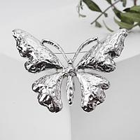 Брошь 'Бабочка' с вкраплениями, цвет серебро