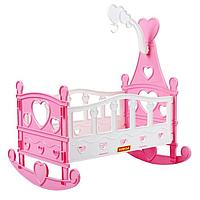 Кроватка-качалка для кукол сборная, 8 элементов, в пакете, МИКС