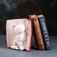 Подставка для книг 'Котята' правый, красно-коричневый 20см