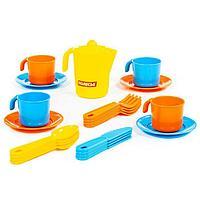 Набор детской посуды 'Анюта', на 4 персоны, 21 элемент