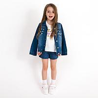 Куртка для девочки, цвет синий, рост 110 см (17)