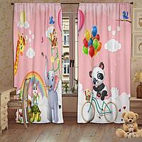 Комплект штор 'Детский праздник' 147х267 +/- 3 см - 2 шт
