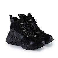 Ботинки женские, цвет чёрный, размер 41