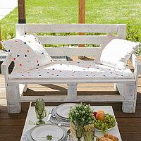 Подушка на 2-местную скамейку Этель 'Треугольники', 45 x 120 см, репс с пропиткой ВМГО, 100-ный хлопок